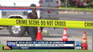 News video: Man shot by officer after refusing to leave Dundalk house fire