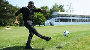 News video: Footgolf at Wentworth for Pep & co