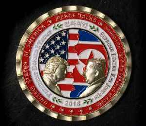 News video: Commemorative North Korea summit coin selling at a discount after President Trump cancels peace talks