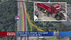 News video: School Bus Driver Charged In Deadly N.J. Crash