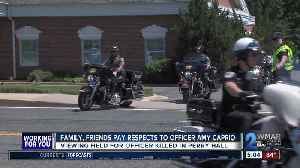News video: Public viewing draws hundreds for fallen officer