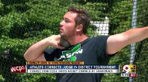 News video: Mason discus thrower alerts officials to scoring error and misses the cut for regional as a result