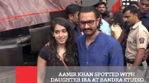 News video: Aamir Khan Spotted With Daughter Ira At Bandra Studio