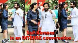 News video: Kareena in an INTENSE conversation with Saif before promotions