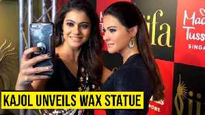 News video: Kajol Launches Her Wax Statue At Madame Tussauds Singapore