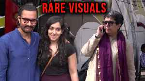 News video: Aamir Khan Spotted With First Wife Reena Dutta And Daughter Ira Khan | Rare Visuals
