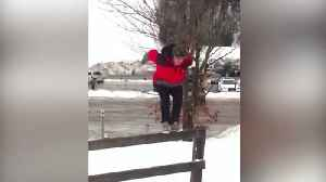News video: Man Tries To Make A Backward Flip, But Fails