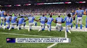 News video: Metro Detroit civil rights activists will protest if Lions don't denounce NFL standing policy