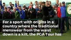 News video: Tiger Woods Comes Out In Support Of Changing PGA Tour's Ancient Dress Code