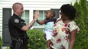 News video: Officer Saves Choking Baby After Mom Knocks on His Door
