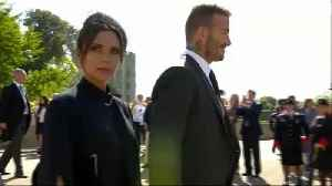 News video: Right Now: Victoria and David Beckham Arrive at Windsor Castle