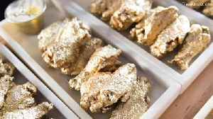 News video: Instagram Gets Bedazzled With These 24K Gold Chicken Wings