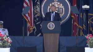 News video: 'You're Fired': Trump Touts VA Accountability At Naval Academy Graduation Ceremony