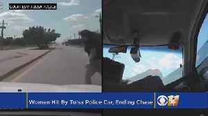 News video: Woman Hit By Tulsa Police Car, Ending Chase