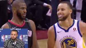 News video: Stephen Curry's FIRE Response to Chris Paul SHIMMYING In His Face