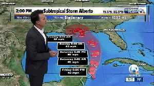 News video: 2 P.M. Alberto advisory