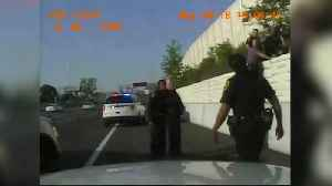 News video: Dashcam video: Suspect struggles with police on I-75