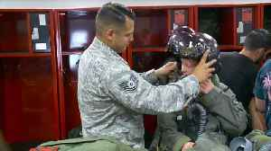 News video: Kids Battling Critical Illnesses Take Flight at Air Force Base