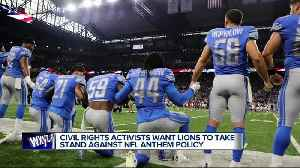 News video: Local civil rights activists plan protests outside Ford Field over national anthem controversy