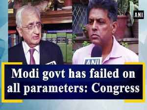 News video: Modi govt has failed on all parameters: Congress