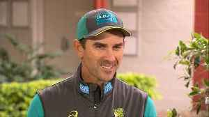 News video: Justin Langer says Australia expecting to 'cop it' from English crowds