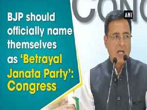 News video: BJP should officially name themselves as 'Betrayal Janata Party': Congress