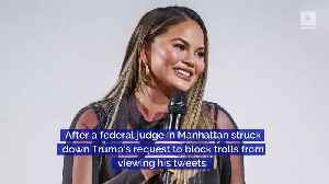 News video: Chrissy Teigen Will Continue to Troll President Trump
