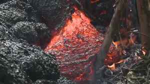 News video: Hawaii Street Engulfed By 'Lava Tide'