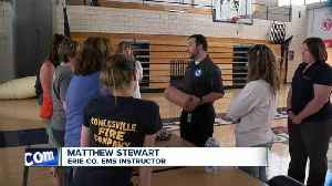 News video: Attica Middle School teachers train for active shooting drill