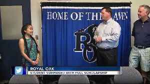 News video: Royal Oak student overcomes odds, is awarded full-ride scholarship to MSU