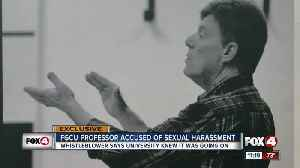 News video: Whistleblower says FGCU knew of professor's sexual misconduct for years