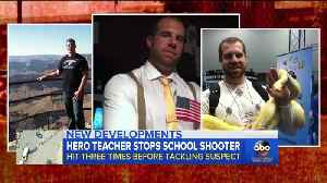 News video: Teacher Was Shot 3 Times As He Tackled The Gunman At Indiana Middle School