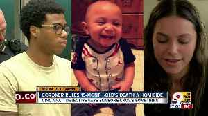 News video: Coroner rules 15-month-old's death a homicide