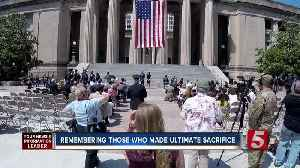 News video: Nashville Memorial Day Ceremony Honors 7 Fallen Service Members
