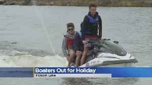 News video: Full Folsom Lake Greets Boaters For Memorial Day Weekend