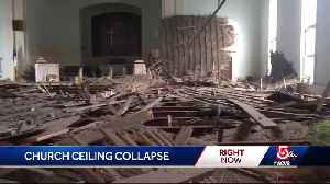 News video: Church ceiling collapses: 'It could have been so much worse'