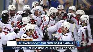News video: Baltimore hockey fans cheering for Capitals in Stanley Cup Final