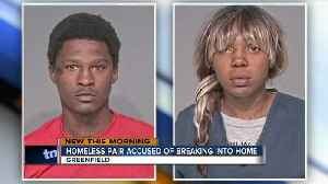 News video: Homeless couple caught living in Greenfield home for days
