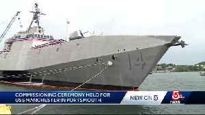 News video: Commissioning ceremony held in New England for new Navy ship