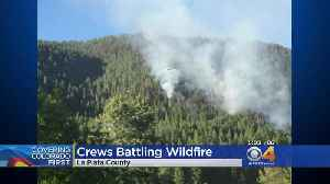 News video: Fire Crews Battle 385 Fire; Some Residents Evacuated