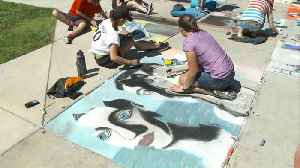 News video: Utah Students Cover Sidewalks with Surrealist Art as Part of Annual Project