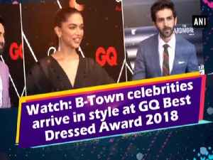 News video: Watch: B-Town celebrities arrive in style at GQ Best Dressed Award 2018