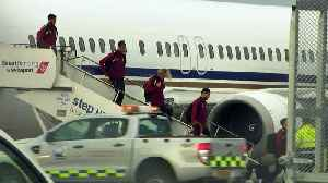 News video: Defeated Liverpool players return home