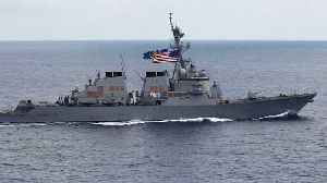 News video: U.S. Warships Sail Near South China Sea Islands Claimed By Beijing