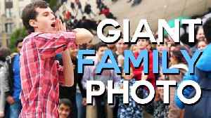 News video: GIANT Family Photo with Strangers