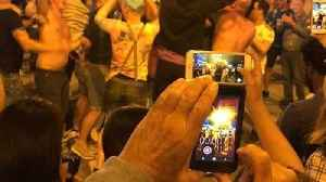 News video: Real Madrid Fans Celebrate Champions League Final Victory in Madrid's Puerta del Sol
