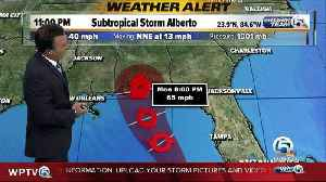 News video: Subtropical Storm Alberto: Heavy rainfall continues to spread northward over Florida