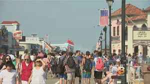 News video: Beachgoers Enjoy Unofficial Start To Summer At The Shore