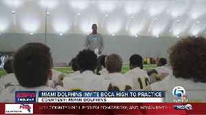 News video: Miami Dolphins host Boca Raton High School at OTA practice