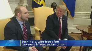 News video: Trump Meets With American Freed From Venezuela